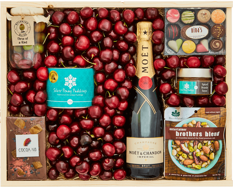 Christmas Box and Moet - Large